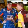 Kyle Busch (M&M's Pretzels) with Crew Chief Dave Rogers - Photo Credit:Geoff Burke/Getty Images for NASCAR