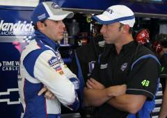 NSCS - Jimmie Johnson and Crew Chief Chad Knaus - Photo Credit: Al Bello/Getty Images