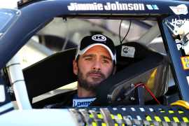 Jimmie Johnson in Car - Photo Credit: Dilip Vishwanat/Getty Images for NASCAR