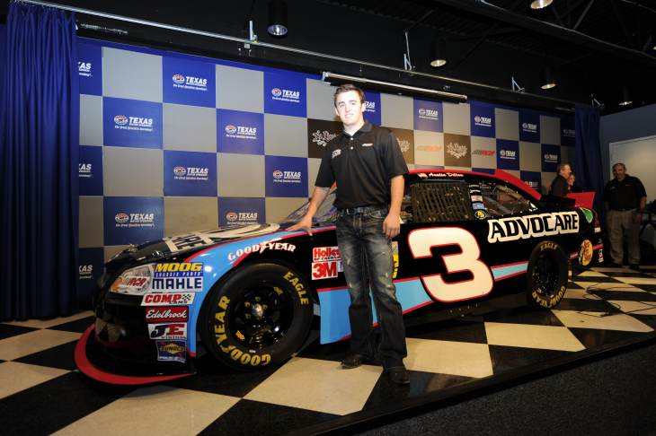 Austin Dillon poses with the #3 Advocare Chevrolet for the 2012 NASCAR Nationwide Series at Texas Motor Speedway on Nov. 4, 2011, in Fort Worth, Texas. - Photo Credit: John Harrelson/Getty Images for NASCAR