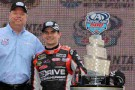 Atlanta Motor Speedway President and GM Ed Clark with Jeff Gordon - Credit: HHP Images