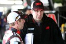 (L-R) Greg Biffle, driver of the No. 16 3M Ford Fusion, talks with crew chief Matt Puccia in the garage - Photo Credit: Jerry Markland/Getty Images for NASCAR
