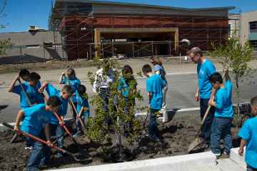 Infineon Raceway and NASCAR Plant 77 Trees at Santa Rosa Elementary School