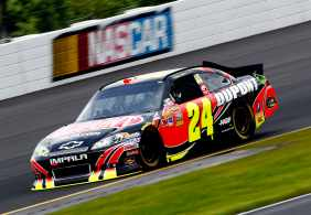 Jeff Gordon Car On Track - Photo Credit: Jeff Zelevansky/Getty Images for NASCAR