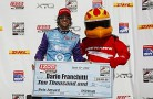 Dario Franchitti Receives the IICS Milwaukee IndyFest Pole at the Milwaukee Mile - Photo Credit: INDYCAR/LAT USA