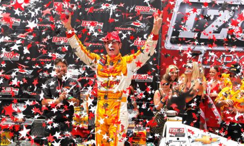 Ryan Hunter-Reay Celebrates 2012 IICS Honda Indy Toronto Victory - Photo Credit: INDYCAR/LAT USA