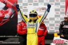 Helio Castroneves Celebrates in Edmonton - Photo Credit: INDYCAR/LAT USA