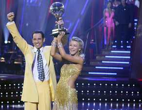 "Team Penske IndyCar Series Driver, Helio Castroneves won Season Five of ""Dancing with the Stars"" in 2007 with professional dance partner Julianne Hough - Photo Courtesy of Carol Kaelson/ABC"