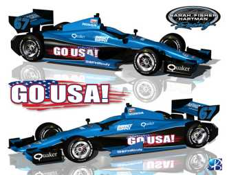 No. 67 Go USA!/SFHR/Dallara/Honda/Firestone Indycar