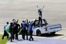 Nelson Piquet, Jr., and No. 30 Team Celebrate - Photo Credit: Jared C. Tilton/Getty Images for NASCAR