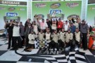 Parker Kligerman and his Red Horse Racing team celebrate winning the fred's 250 powered by Coca-Cola at Talladega (Ala.) Superspeedway