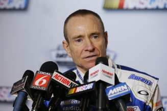 Driver Mark Martin speaks to the media during the 2013 NASCAR media day at Daytona International Speedway on February 14, 2013 in Daytona Beach, Florida. - Photo Credit: Sam Greenwood/Getty Images