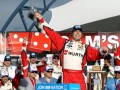 Sam Hornish Jr., driver of the #12 Wurth Ford, celebrates in Victory Lane after winning the NASCAR Nationwide Series Sam&#039;s Town 300 at Las Vegas Motor Speedway on March 9, 2013 in Las Vegas, Nevada. (Photo by Todd Warshaw/Getty Images)