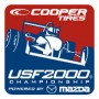 The Cooper Tires USF2000 Championship Powered by Mazda Logo