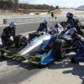 2013 IICS Driver Josef Newgarden in the No. 67 SFHR/Dallara/Honda/Firestone Pitting