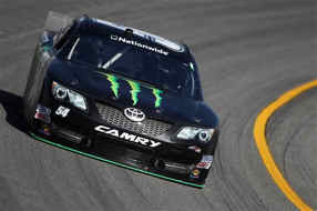 Kyle Busch drives the #54 Monster Energy Toyota during practice for the NASCAR Nationwide Series ToyotaCare 250 at Richmond International Raceway in Richmond, Virginia. - Photo Credit: Todd Warshaw/Getty Images
