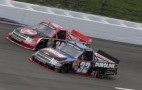 No. 32 Duroline Brakes and Components Chevrolet Silverado battles teammate James Buescher