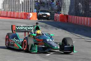 2013 IICS Panther DRR Driver Oriol Servia on Track - Photo Credit: INDYCAR