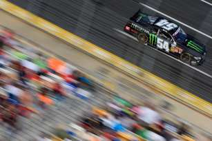 Kyle Busch drives the #54 Monster Energy Toyota during the NASCAR Nationwide Series History 300 at Charlotte Motor Speedway on May 25, 2013 in Concord, North Carolina. - Photo Credit: Jamie Squire/Getty Images