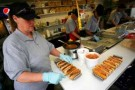 The Famous Martinsville Speedway Hot Dog Being Prepared at Martinsville Speedway - Photo Credit: Tyler Barrick/Getty Images