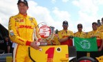 2013 IICS Diriver Ryan Hunter-Reay Wins Verizon P1 Award at Mid-Ohio - Photo Credit: INDYCAR