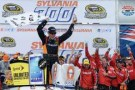 Matt Kenseth, driver of the #20 Home Depot / Husky Toyota, celebrates in Victory Lane after wining the NASCAR Sprint Cup Series Sylvania 300 at New Hampshire Motor Speedway on September 22, 2013 in Loudon, New Hampshire. - Photo Credit: Patrick Smith/Getty Images