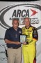 ARCA President Ron Drager with Frank Kimmel presenting the Bill France 4 Crown plague (Photo Credit: