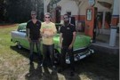Dale Earnhardt, Jr., Driver of the No, 88 Diet Mountain Dew Chevrolet SS, on site at Dirty Mo' Acres with Fast N' Loud's Richard Rawlings and Aaron Kaufman