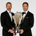 NASCAR Sprint Cup Series Champion Jimmie Johnson (R) and his crew chief Chad Knaus pose for a portrait prior to the NASCAR Sprint Cup Series Champion's Awards at Wynn Las Vegas on December 6, 2013 in Las Vegas, Nevada. - Photo Credit: Chris Graythen/NASCAR via Getty Images