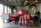 The #28 FDNY Racing Chevrolet driven by Ryan Ellis sits in the garage during NASCAR Preseason Thunder at Daytona International Speedway on January 14, 2014 in Daytona Beach, Florida. - Photo Credit: Jerry Markland/Getty Images