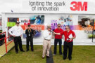 Doug Rice, president of PRN, interviews Jack Roush and Greg Biffle at the 3M Mobile Innovation Center.