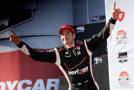 Will Power of Australia, driver of the #12 Verizon Team Penske Chevrolet celebrates his victory in the Verizon IndyCar Series Firestone Grand Prix of St. Petersburg at the Streets of St. Petersburg on March 30, 2014 in St Petersburg, Florida. - Photo Credit: Chris Trotman/Getty Images