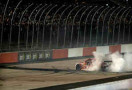 Kevin Harvick, driver of the #4 Budweiser Chevrolet, celebrates with a burnout after winning the NASCAR Sprint Cup Series Bojangles' Southern 500 at Darlington Raceway on April 12, 2014 in Darlington, South Carolina. - Photo Credit: Kevin C. Cox/Getty Images