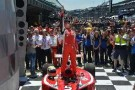 2014 Indy Lights Freedom 100 Winner Gabby Chaves in Victory Lane