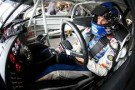 David Ragan, driver of the #34 Taco Bell Ford, sits in his car - Photo Credit: Chris Graythen/Getty Images