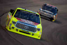 Matt Crafton, driver of the #88 Slim Jim/Menards Toyota, races during the NASCAR Camping World Truck Series WinStar World Casino & Resort 400 at Texas Motor Speedway on June 6, 2014 in Fort Worth, Texas.- Photo Credit: Robert Laberge/Getty Images