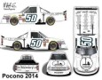 No. 50 Fallen Linemen Organization Chevrolet Silverado Layout