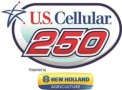 U.S. Cellular 250 presented by New Holland Logo