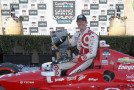 Scott Dixon of New Zealand, driver of the #9 Target Chip Ganassi Racing Chevrolet, celebrates in victory lane after winning the Verizon IndyCar Series GoPro Grand Prix of Sonoma at Sonoma Raceway on August 24, 2014 in Sonoma, California. - Photo Credit: Todd Warshaw/Getty Images
