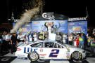 Brad Keselowski, driver of the #2 Miller Lite Ford, celebrates in Victory Lane after winning during the NASCAR Sprint Cup Series Federated Auto Parts 400 at Richmond International Raceway on September 6, 2014 in Richmond, Virginia. - Photo Credit: Rainier Ehrhardt/Getty Images