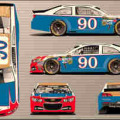 2014 NSCS No 90 Tribute to Junie Donlavey Chevrolet SS