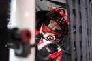 Kyle Larson, driver of the #42 Target Chevrolet, prepares to drive during practice for the NASCAR Sprint Cup Series Hollywood Casino 400 at Kansas Speedway in Kansas City, Kansas. - Photo Credit: Sarah Glenn/Getty Images