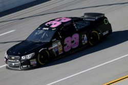 Travis Kvapil, driver of the No. 33 Little Joe's Auto Chevrolet, practices for the NASCAR Sprint Cup Series GEICO 500 at Talladega Superspeedway on October 17, 2014 in Talladega, Alabama.. (Photo Credit: Todd Warshaw / Getty Images)