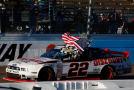 Brad Keselowski, driver of the #22 Discount Tire Ford, celebrates after winning the NASCAR Nationwide Series DAV 200 at Phoenix International Raceway on November 8, 2014 in Avondale, Arizona. - Photo Credit: Tom Pennington/Getty Images