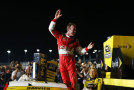 Kevin Harvick, driver of the #4 Budweiser Chevrolet, celebrates in Victory Lane after winning the NASCAR Sprint Cup Series Ford EcoBoost 400 and the NASCAR Sprint Cup Series Championship at Homestead-Miami Speedway on November 16, 2014 in Homestead, Florida. - Photo Credit: Jonathan Ferrey/Getty Images