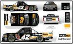 Kyle Larson, No. 42 ParkerStore Chevrolet Silverado Layout
