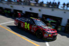 Jeff Gordon, driver of the #24 Drive To End Hunger Chevrolet, drives through the garage area during practice for the NASCAR Sprint Cup Series 57th Annual Daytona 500 at Daytona International Speedway on February 20, 2015 in Daytona Beach, Florida. - Photo Credit: Patrick Smith/Getty Images