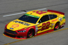 Joey Logano, driver of the #22 Shell-Pennzoil Ford, practices for the NASCAR Sprint Cup Series Toyota Owners 400 at Richmond International Raceway on April 24, 2015 in Richmond, Virginia. - Photo Credit: Jared C. Tilton/Getty Images