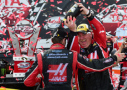 Kurt Busch(left), driver of the #41 Haas Automation Chevrolet, and his crew chief Tony Gibson celebrate in Victory Lane after winning the NASCAR Sprint Cup Series Toyota Owners 400 at Richmond International Raceway on April 26, 2015 in Richmond, Virginia. - Photo Credit:: Jared C. Tilton/Getty Images