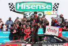 Austin Dillon, driver of the #33 Rheem Chevrolet, celebrates in Victory Lane after winning the NASCAR XFINITY Series Hisense 300 at Charlotte Motor Speedway on May 23, 2015 in Charlotte, North Carolina. - Photo Credit: Streeter Lecka/Getty Images